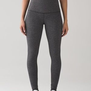 Lululemon Wunder Under Pant in Heathered Gray